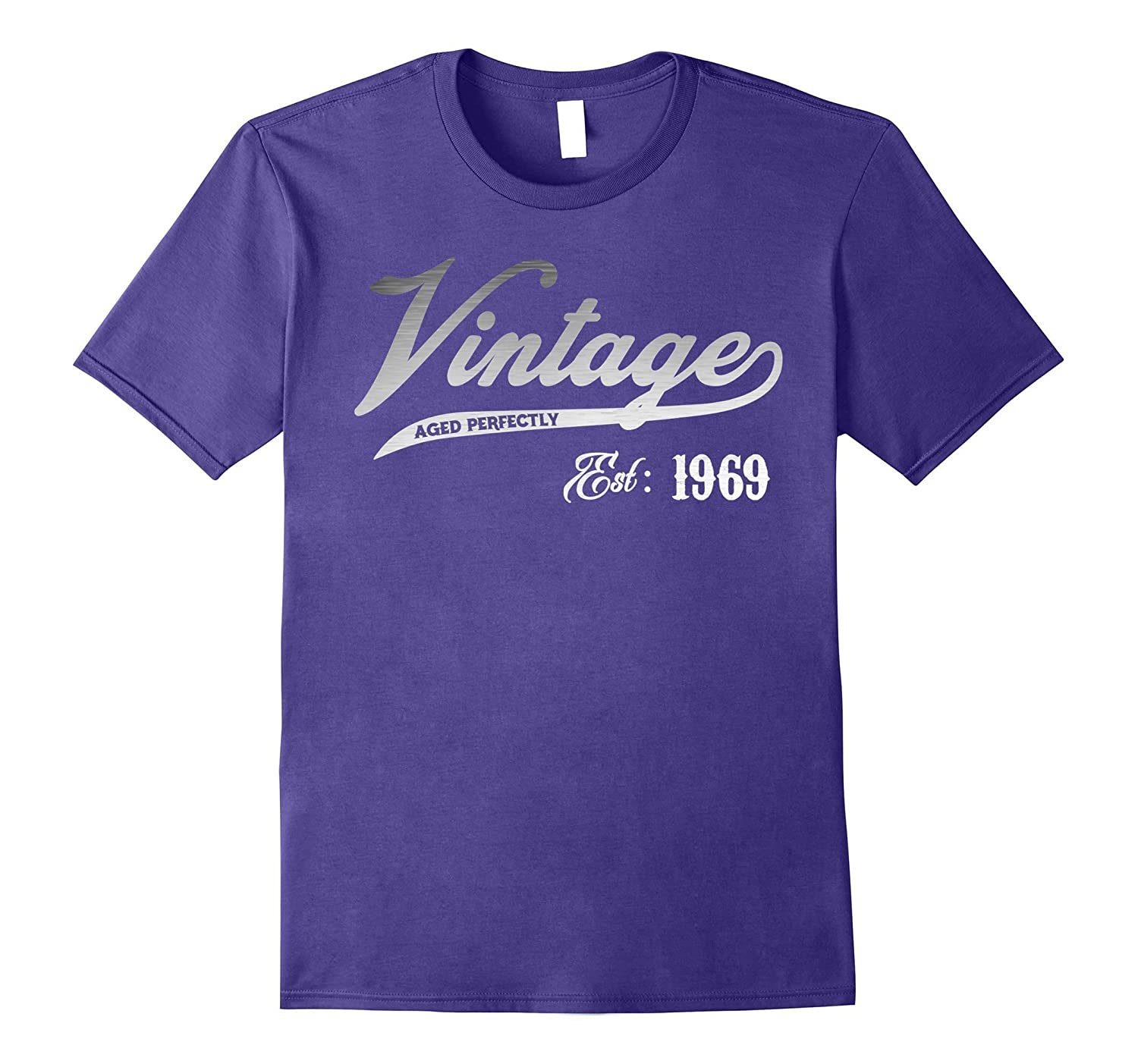 Vintage Est 1969 T-shirt 48 yrs old B-day 48th Birthday Gift-FL