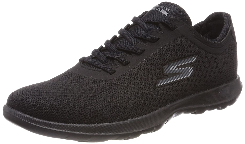Skechers Women's Go Walk Lite-15350 Sneaker B071GVH731 12 B(M) US|Black