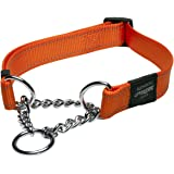 ROGZ Utility Extra Large 1-Inch Reflective Lumberjack Obedience Half-Check Dog Collar