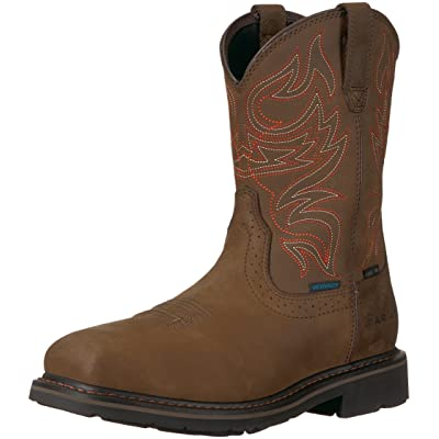 ARIAT Men's MNS Sierra Delta H2o St Oily Dstrsd BRN Construction Boot | Industrial & Construction Boots