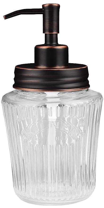 Vintage tarro dispensador de jabón Mason | negro | acero inoxidable | Kilner | 500 ml