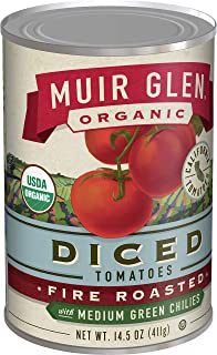 product image for Muir Glen Organic Diced Fire Roasted Tomatoes With Medium Green Chilies 14.5 oz (Pack of 12)