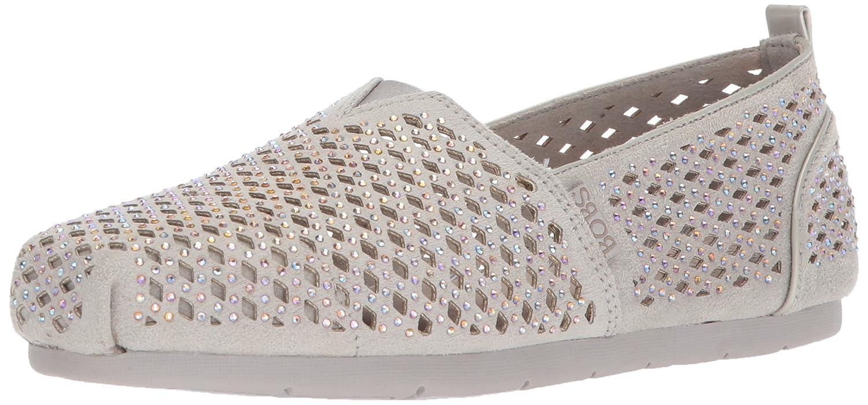 Skechers BOBS from Women's Luxe Bobs-Dazzlin Ballet Flat B0735YFW51 7 B(M) US|Light Gray