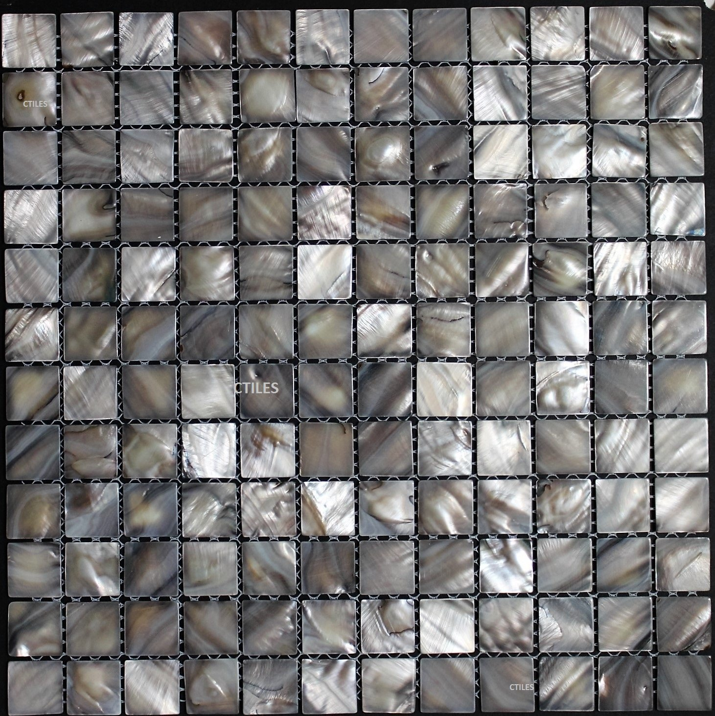 Mother of pearl tile square ash grey shell tiles for backsplash bathroom walls and floors