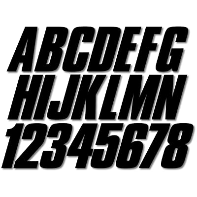 "Stiffie Shift Black 3"" ID Kit Alpha-Numeric Registration Identification Numbers Stickers Decals for Boats & Personal Watercraft: Automotive"