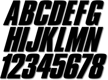 Stiffie Shift Sky Blue 3 ID Kit Alpha-Numeric Registration Identification Numbers Stickers Decals for Boats /& Personal Watercraft