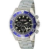 Nautec No Limit - DS-B QZ2/STSTBLBK - Montre Homme - Quartz - Chronographe - Chronomètre - Bracelet Acier Inoxydable Argent