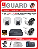 iBall 1.0 MP HD CCTV Camera Kit with 4 Channel DVR