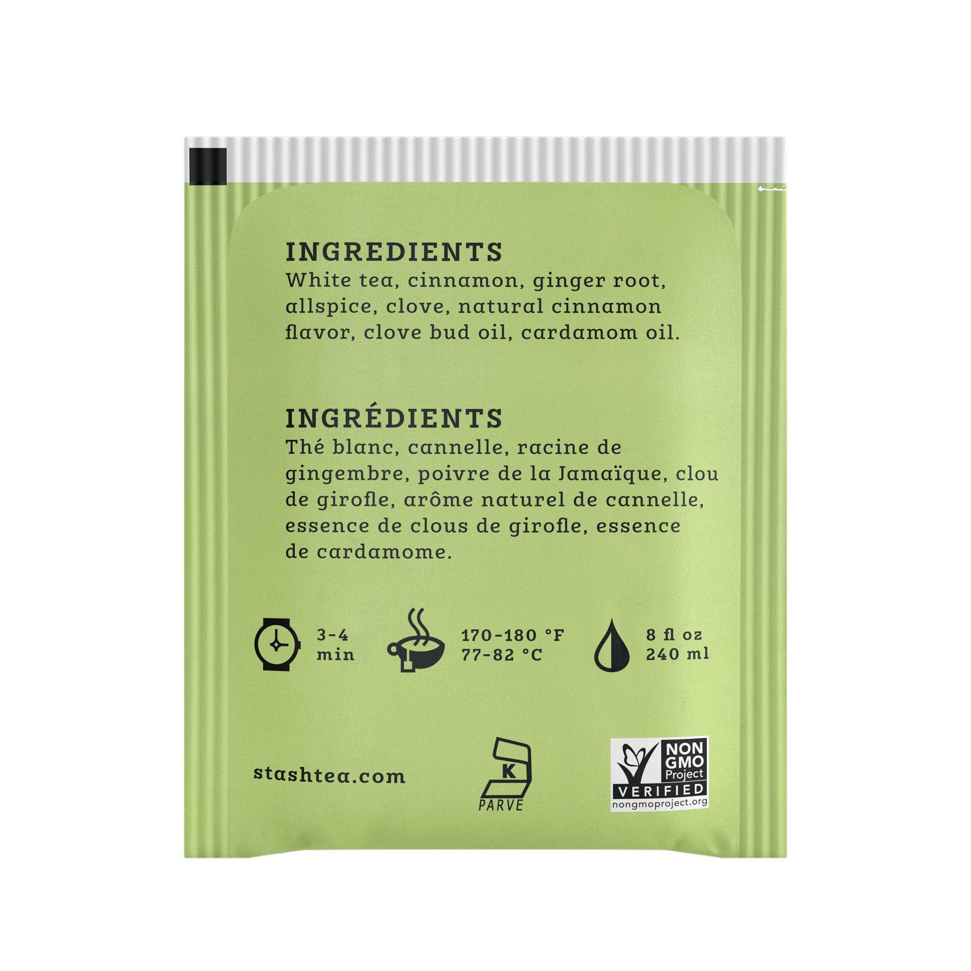 Stash Tea White Chai Tea 1000 Count Tea Bags in Foil Individual Spiced White Tea Bags for Use in Teapots Mugs or Cups, Brew Hot Tea or Iced Tea by Stash Tea (Image #4)