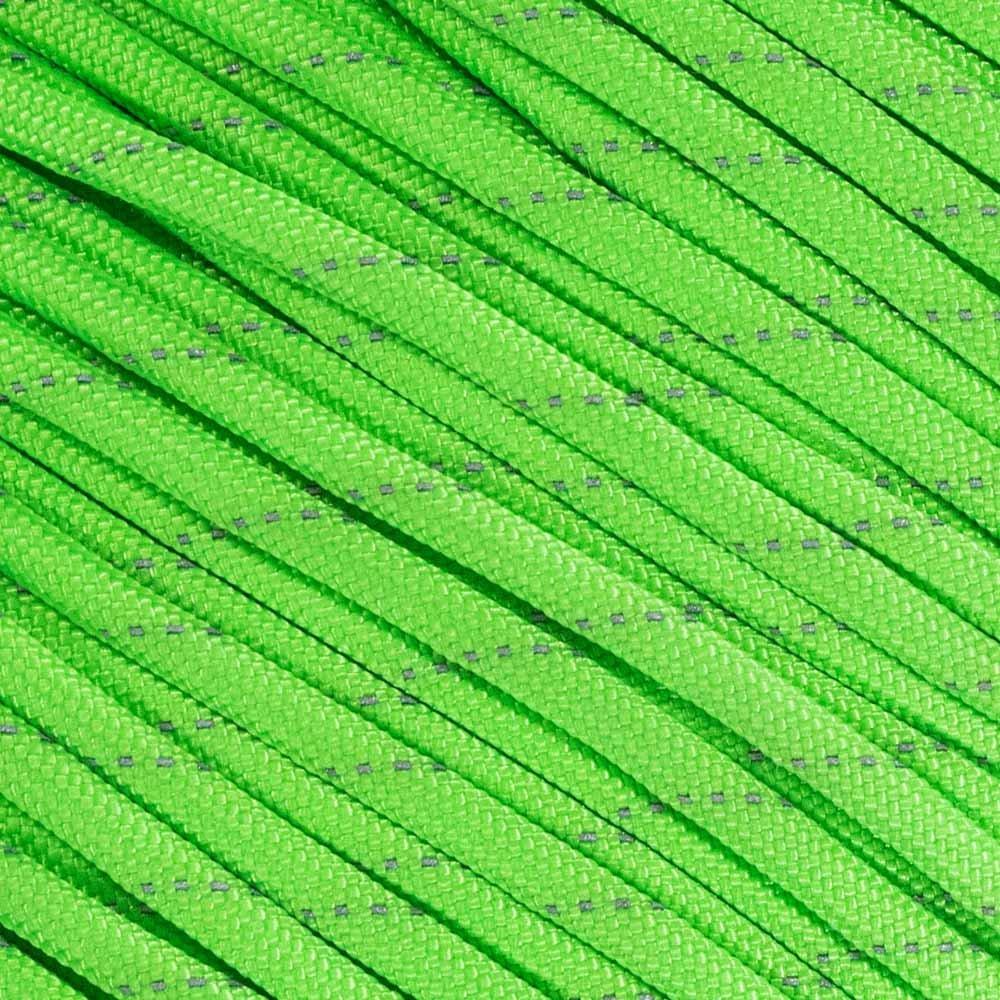 蛍光反射型550 タイプIII ガイライン テントロープ キャンプサバイバルコード 高視認性パラコード 腐敗や紫外線による退色に強い マルチカラー マルチサイズ B071XTQGP2 50 Feet|Reflective Neon Green Reflective Neon Green 50 Feet