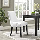 Modway EEI-2228-WHI Marquis Faux Leather Dining Chair, White