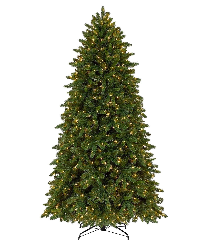 Tall Skinny Christmas Tree Silhouette.Tree Classics Classic Fraser Fir Artificial Christmas Tree 6 5 Feet Prelit Clear Lights