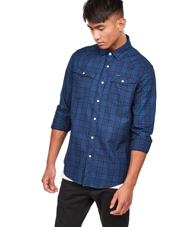 G-STAR RAW 3301 Slim Shirt L\s Sudadera para Hombre