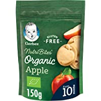Gerber Organic Nutribites Apple Biscuits Baby Food, 150g Pouch