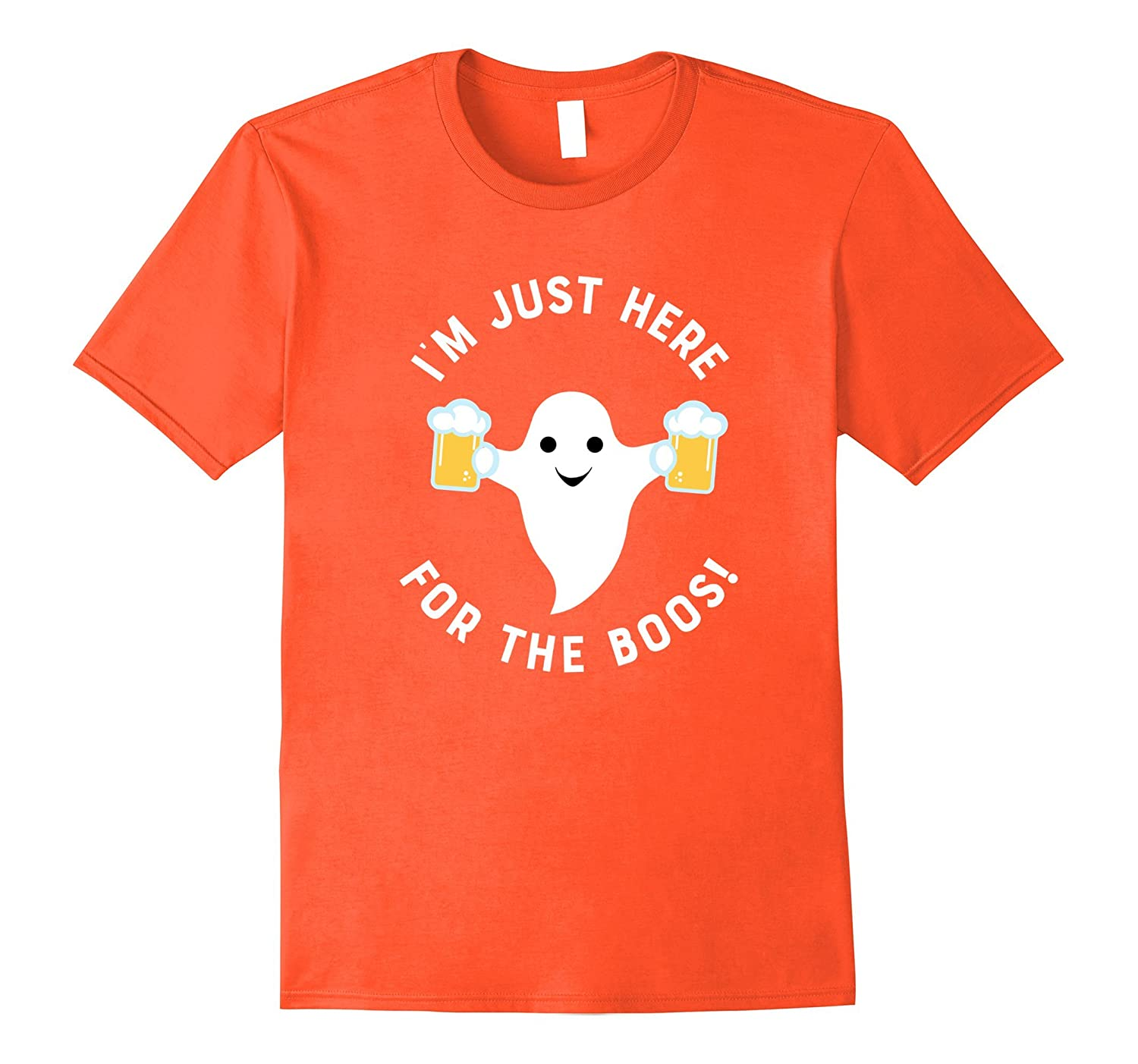 I'm Just Here For The Boos Funny Halloween Beer Tee Shirt-FL
