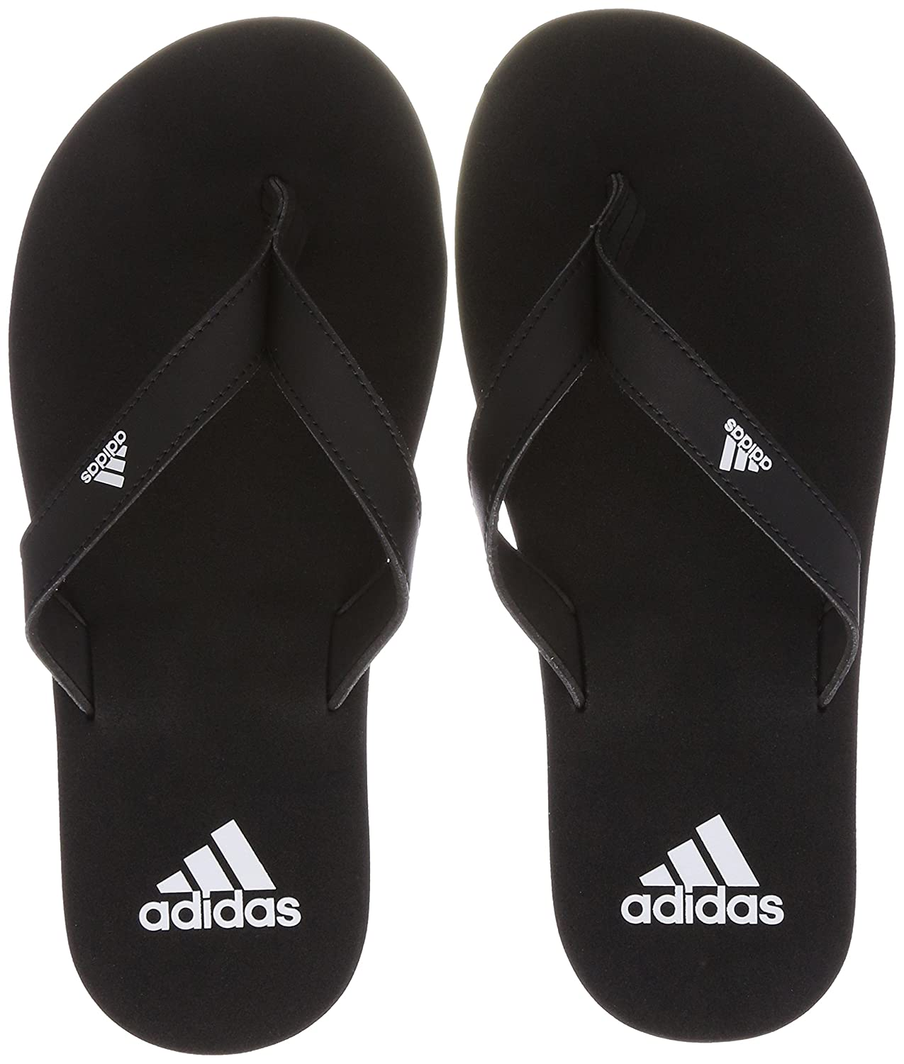 running shoes outlet on sale dirt cheap Amazon.com: adidas Eezay Essence Thong Sandals [Black/White ...