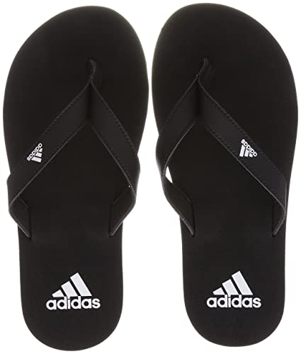 aa39a99a6 Amazon.com  adidas Eezay Essence Thong Sandals  Black White  - 10 UK ...