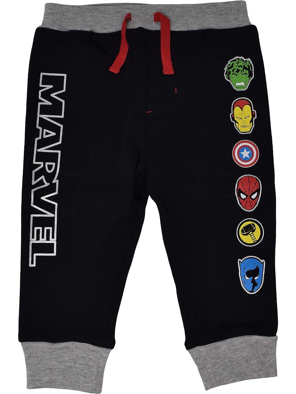 Marvel Avengers Baby Boys 2 Pack Jogger Pants with Drawstring Black//Grey