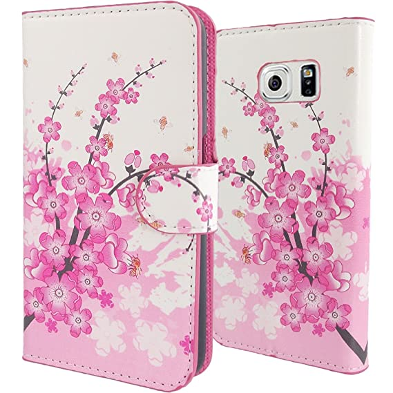 Amazon.com: WwWSuppliers Pink & White Cherry Blossom PU ...