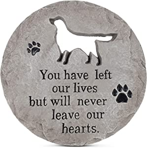 Transpac Never Leave Our Hearts Dog 12 x 12 Cement Memorial Garden Stepping Stone