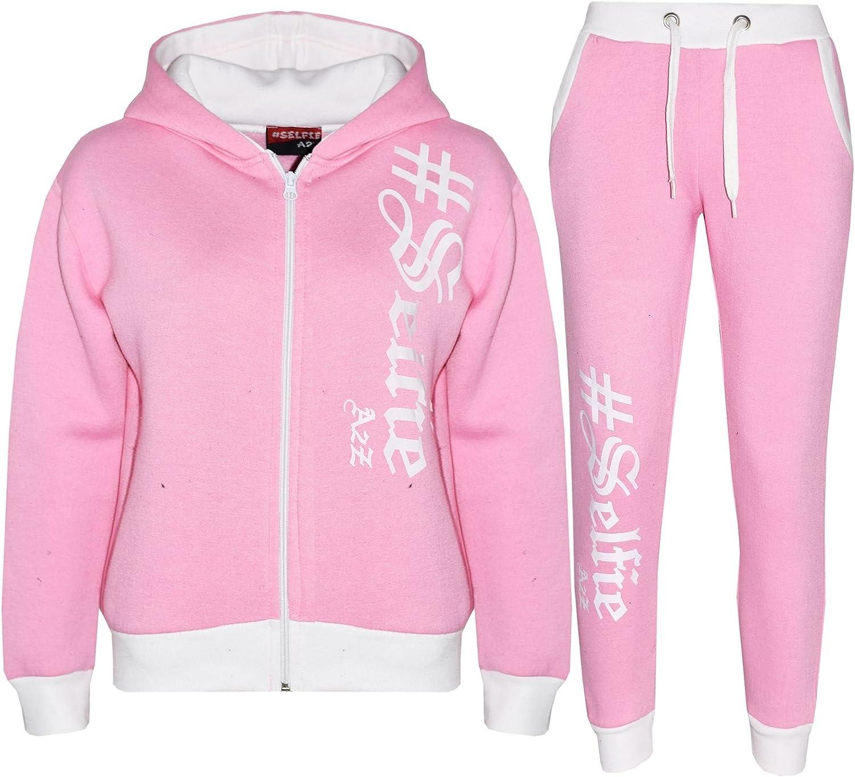 A2Z 4 Kids/® Kids Tracksuit Boys Girls Designers #Selfie Print Zipped Top Hoodie /& Botom Jogging Suit Joggers Age 5 6 7 8 9 10 11 12 13 Years