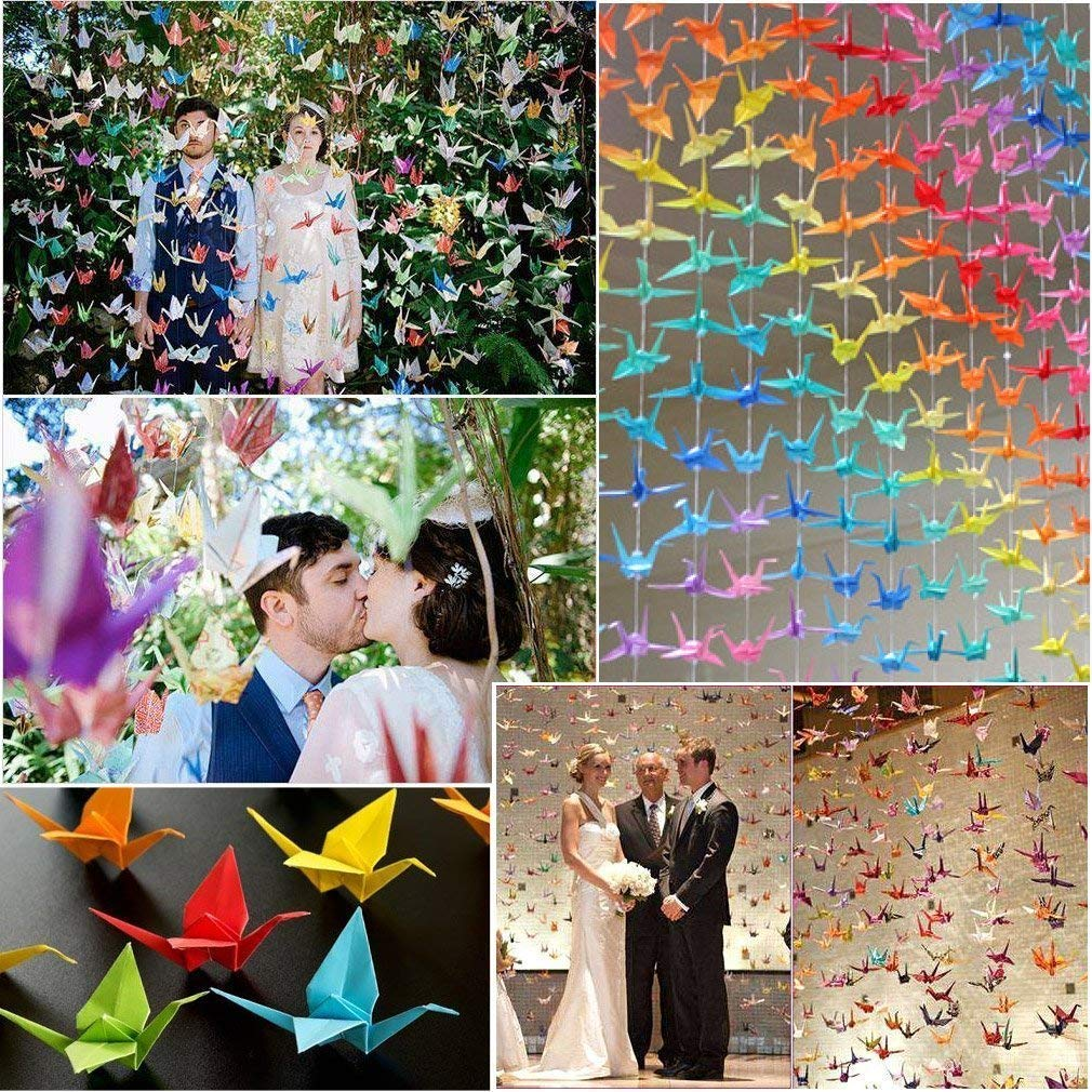 100 Sheets 7.8in + 100 Sheets 5.9in + 100 Sheets 3.9in + 100 Sheets 2.9in 400 Sheets Double Sided Origami Paper in 10 Assorted Vivid Colours 4 Sizes Specification/&100PCS Wiggle Googly Eyes