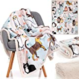 Cat Blanket - 28 Cute Cat Companions on a Sumptuously Soft 50x60 Inch Cat Lover Throw Blanket - The Most Beloved Cat Gifts fo