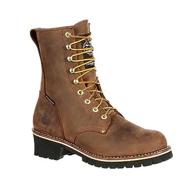 Brown Georgia Boot Mens 8 Steel Toe Insulated Logger Work Boot-GB00065 W8