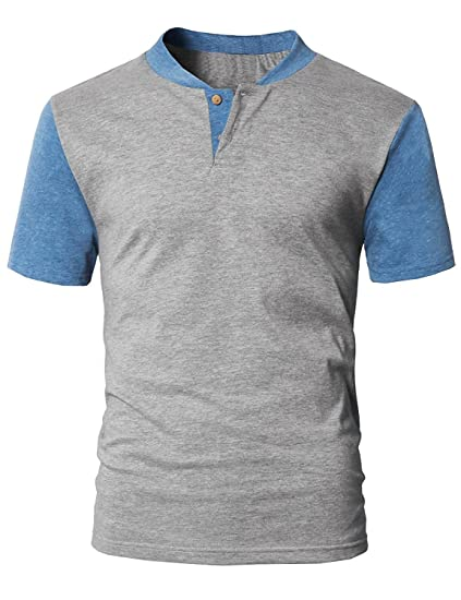 4711a021 Image Unavailable. Image not available for. Color: Tutorutor Mens Henley  Shirts Short Sleeve Raglan Golf Baseball Tees Slim Fit ...