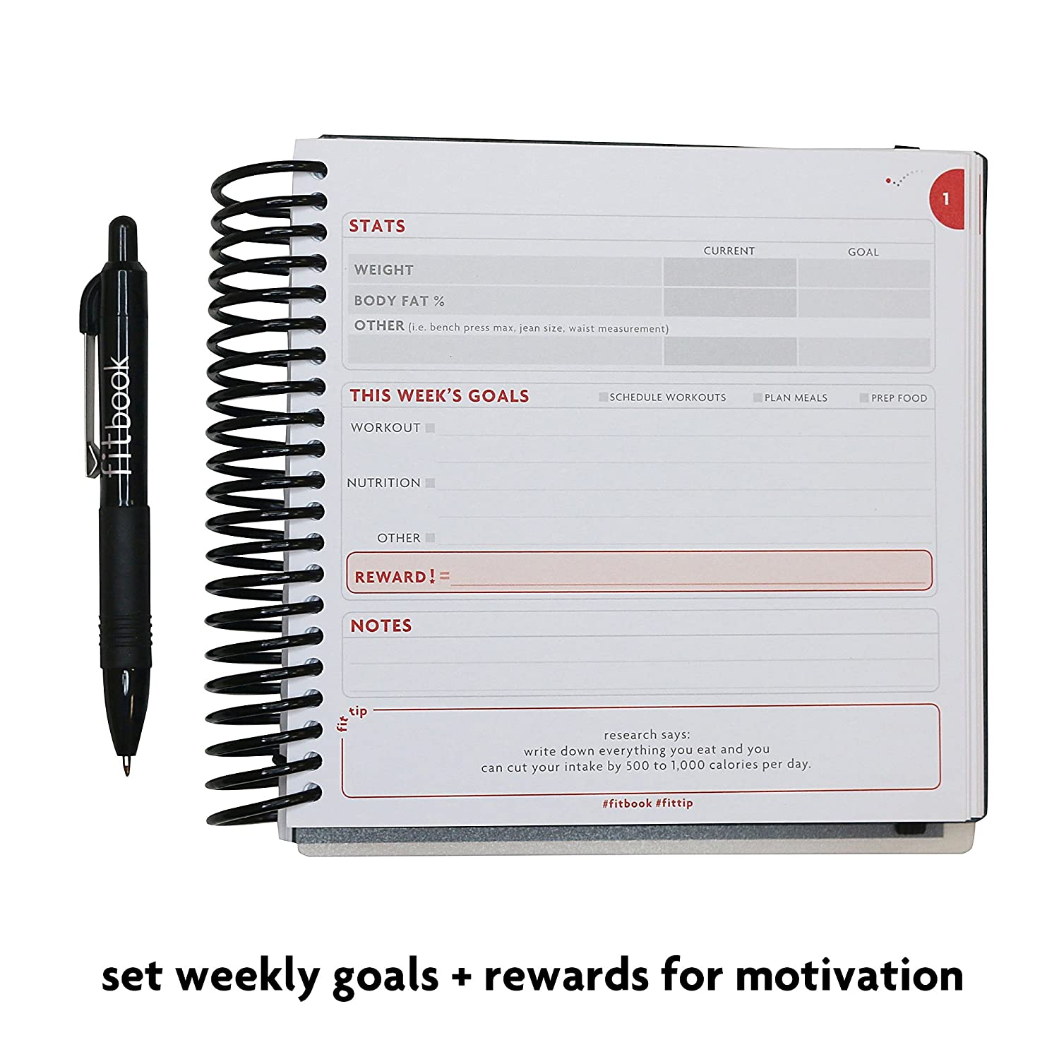amazon com fitlosophy fitbook fitness journal and planner for