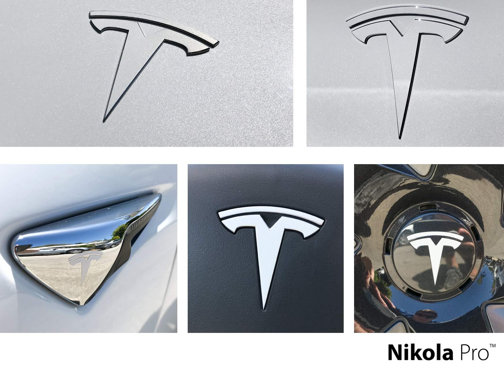 White Nikola Pro Tesla Model 3 Door Exit Decal Set