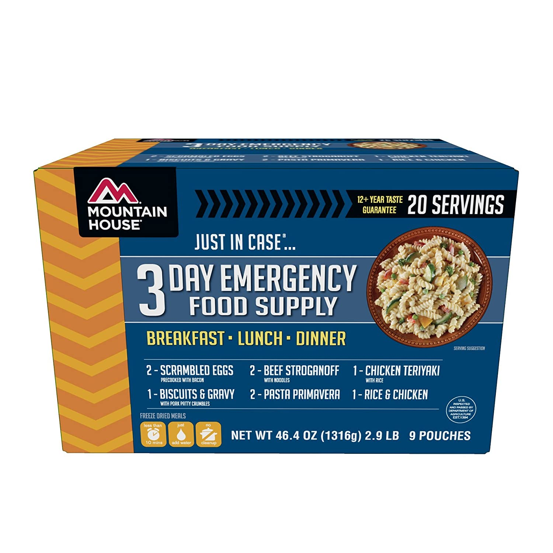 Amazoncom Mountain House 3 Day Emergency Food Supply Sports