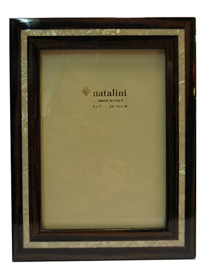 Amazon Natalini Frame 5 X 7 Wood And Pearl Bordered Made In