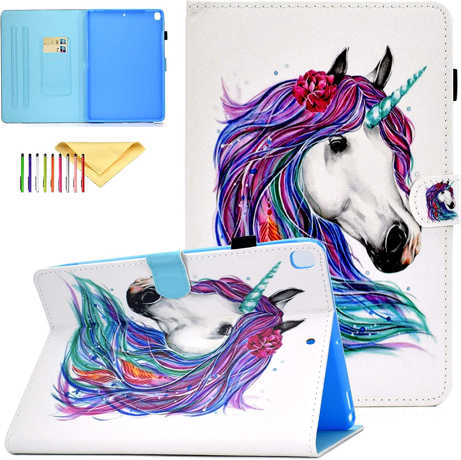 Headphone Monkey Case for Apple iPad 10.2 Inch 2019 7th Generation Uliking Cute Pattern PU Leather Skinshell Slim Lightweight Stand Wallet Smart Cover
