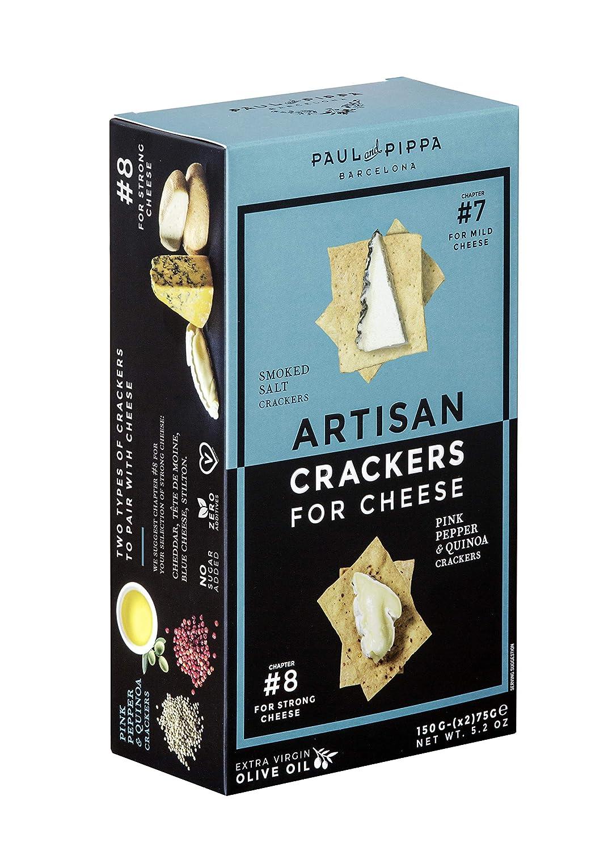 Paul & Pippa - Crackers artesanales para queso: Amazon.com ...