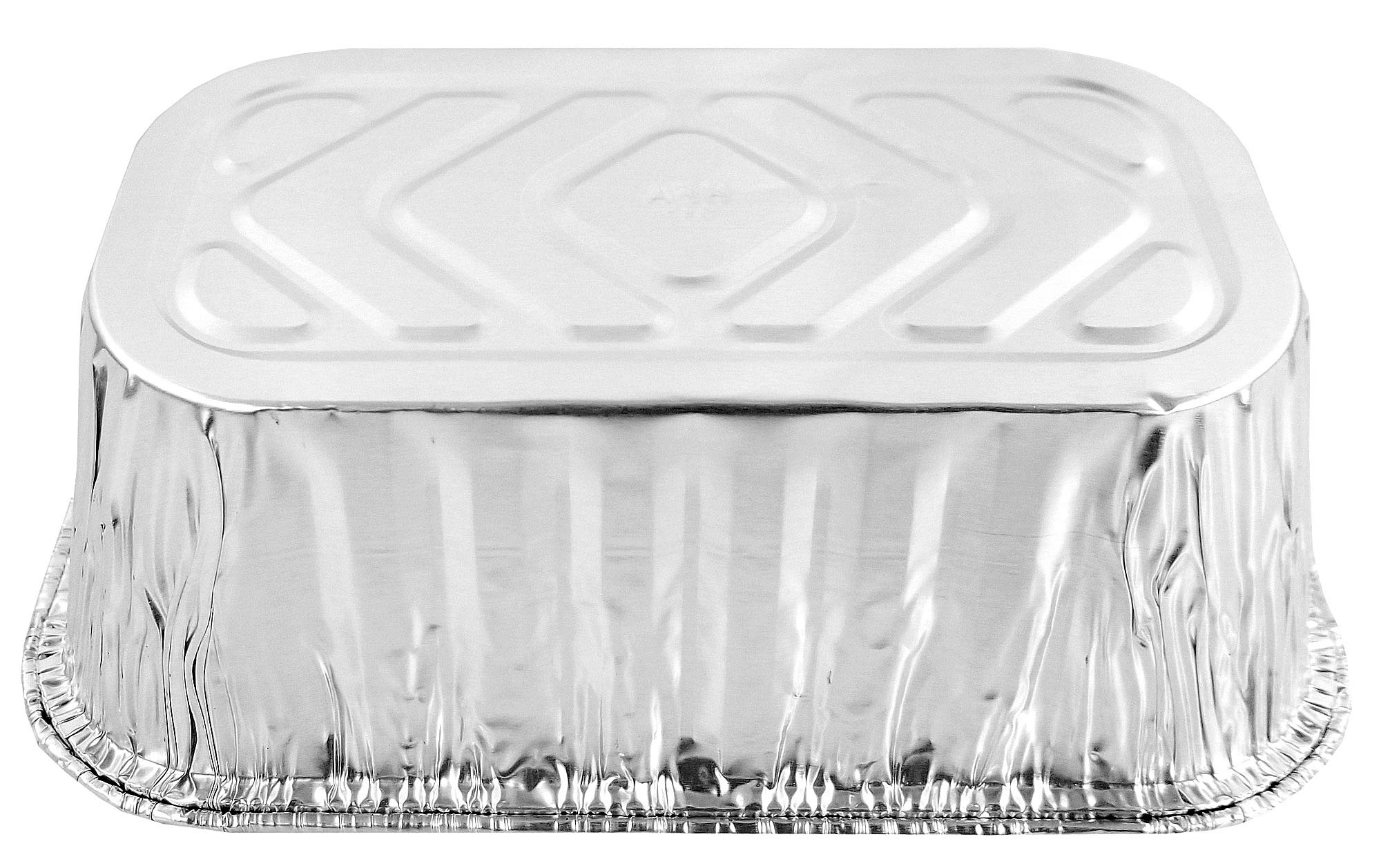 Pactogo Disposable 1 lb. Aluminum Foil Mini Loaf Pans with Clear Low Dome Lids (Pack of 400 Sets) by PACTOGO (Image #9)