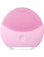 FOREO Luna Mini 2 Facial Cleansing Brush and Skin Care device made with Soft Silicone for Every Skin Type, USB Rechargeable, Pearl Pink, 204g