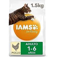IAMS for Vitality Alimento para Gato Adulto con pollo fresco, 1,5 kg