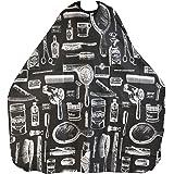 TRIXES Capa Bata con estampado negro para adultos Salón Peluquería Barberos perfecta para Corte, Coloración, Reflejos, etc.