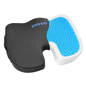 Amazon.com: Plixio Gel Seat Cushion Memory Foam Chair Pillow ...