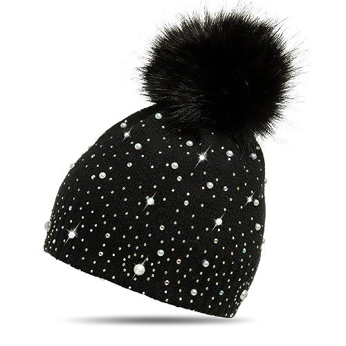 CASPAR MU143–Berretto a maglia da donna