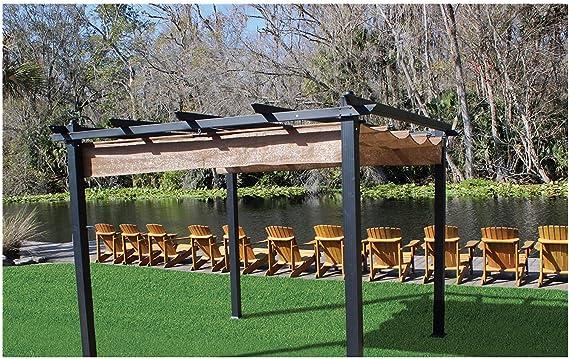 Cооlаrоо Coronaon Patio Jardín al Aire Libre Premium Aurora Pergola, Patio o Patio Shade Pergola, filtrado de luz 90% UV Bloque, (98