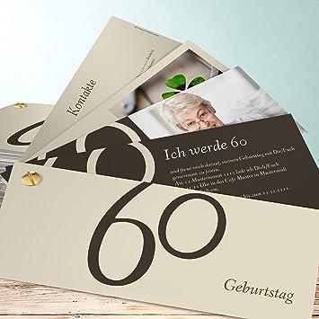 Einladungskarten 60 Geburtstag Selber Machen Meine Sechzig 5 Karten