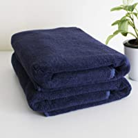 Heelium Bamboo Bath & Swim Towel, 2 Pieces, Ultra Soft, Super Absorbent, Antibacterial, 600 GSM, Full Size 55 inch x 27 inch