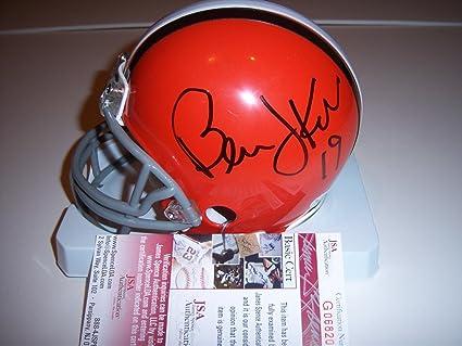 487c4fb2 Amazon.com: Bernie Kosar Autographed Mini Helmet - coa - JSA ...