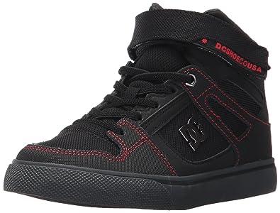 9108328a2eb DC Boys  Spartan High SE EV Black Red Grey High Top Shoes -