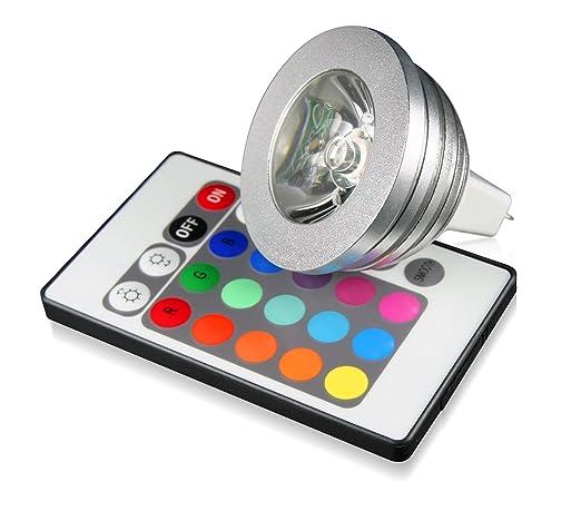 Technaxx RGB - Bombilla LED de varios colores con mando a distancia (12 V,