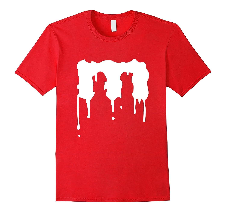 M Candy Halloween Dripping Letter Women Men T-Shirt-T-Shirt