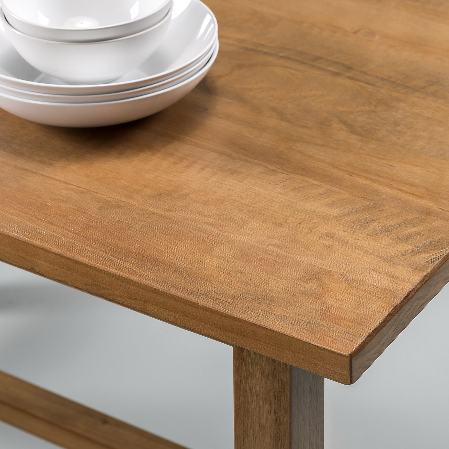 Zinus Brandon Detailed Dining Table in Natural Finish by Zinus (Image #3)