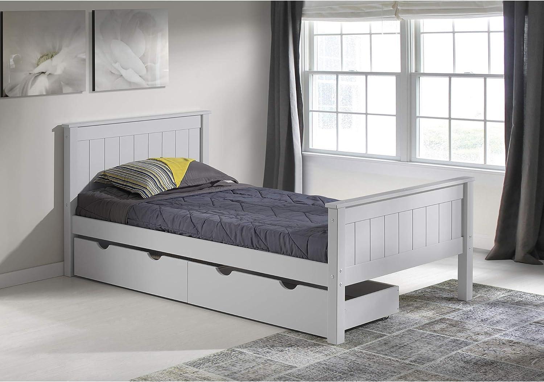 Alaterre Harmony Twin Bed Dove Gray